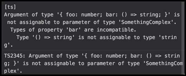 IDE error message example