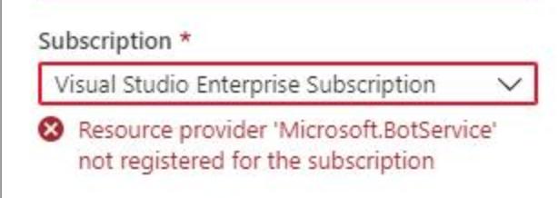 'Resource Provider error'