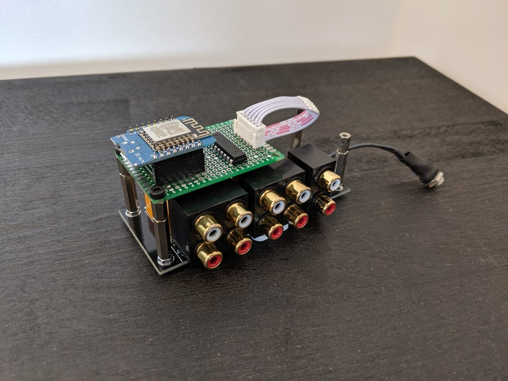 MQTT audio input channel switcher