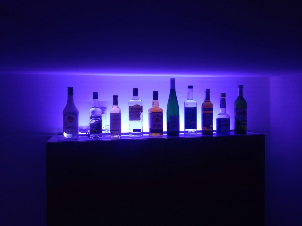 VibeLight 5.0 nicely lights up my alcohol collection