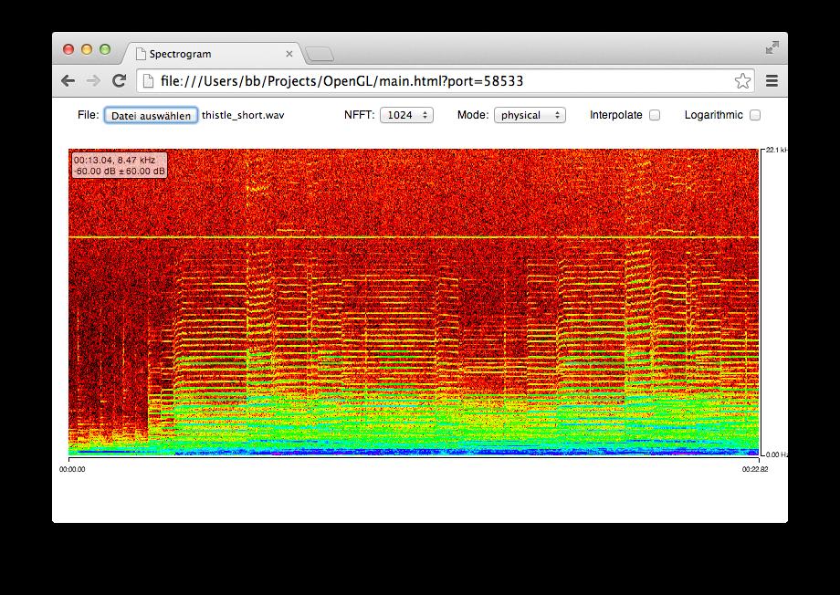 GitHub - bastibe/WebGL-Spectrogram: A smoothly animated spectrogram