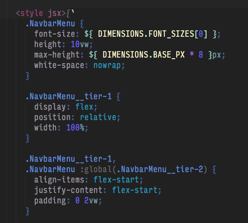 Styled JSX example