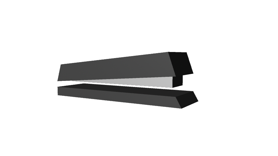 Black stapler (rough model)