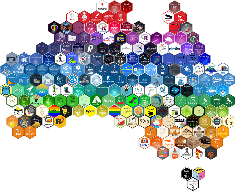Australia hex sticker map