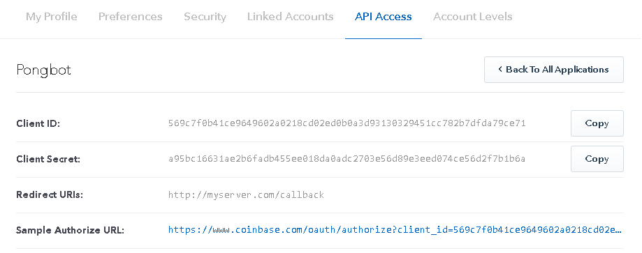 OAuth AppSetup