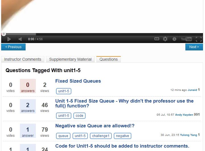 Udacity Forum Plugin Screenshot