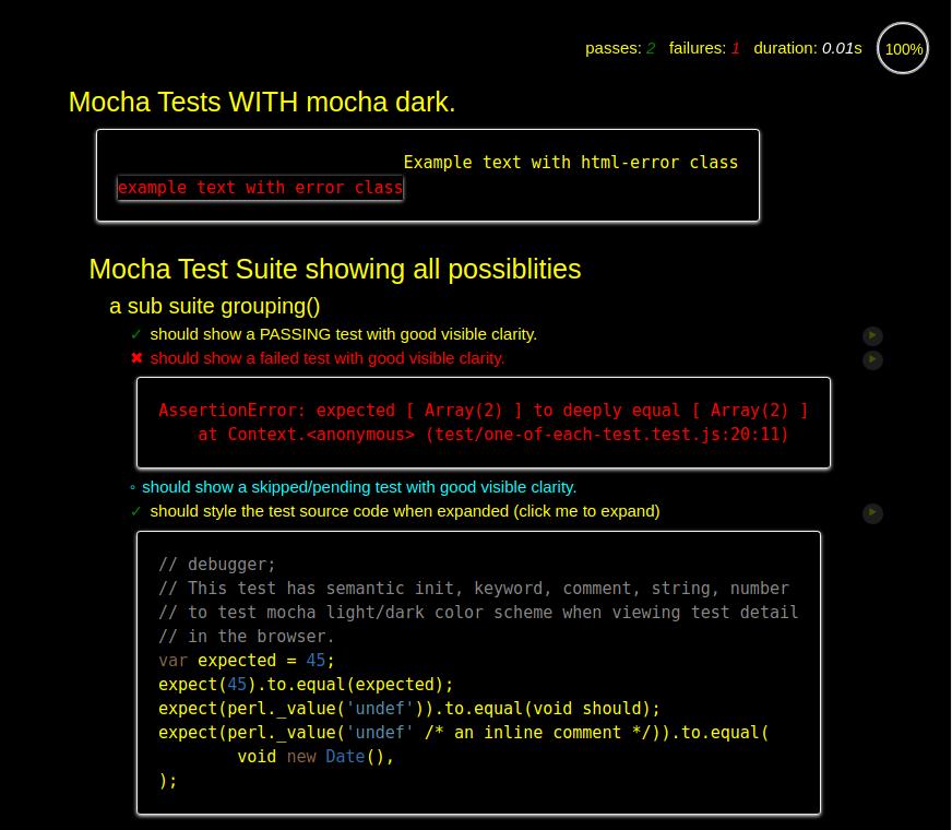 Mocha Dark Theme