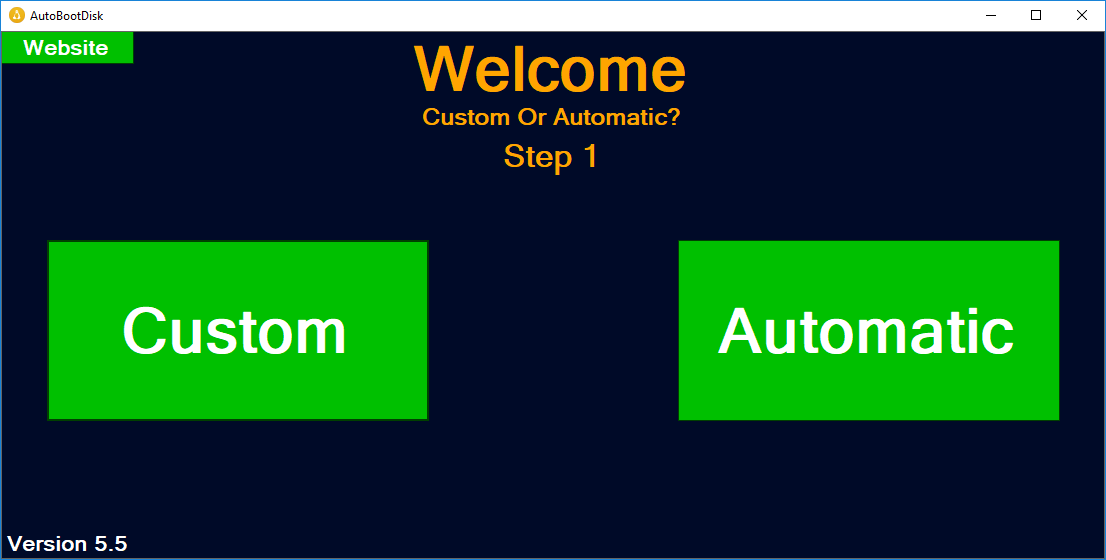 Screenshot of AutoBootDisk
