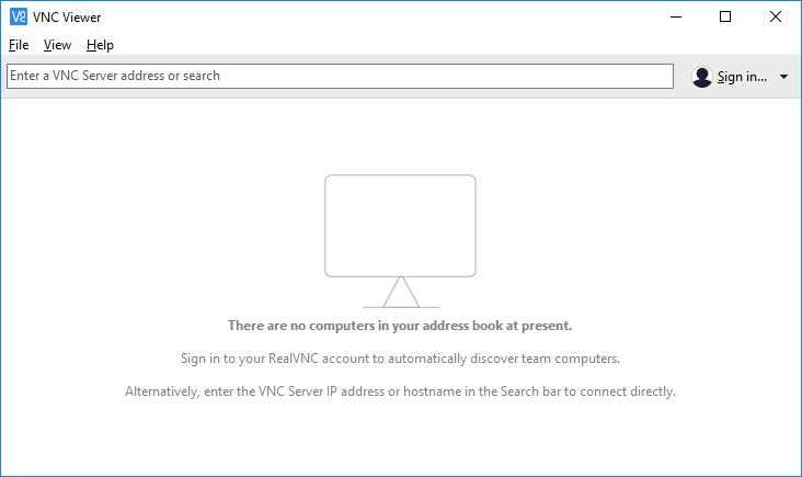 Screen shot of VNC Viewer
