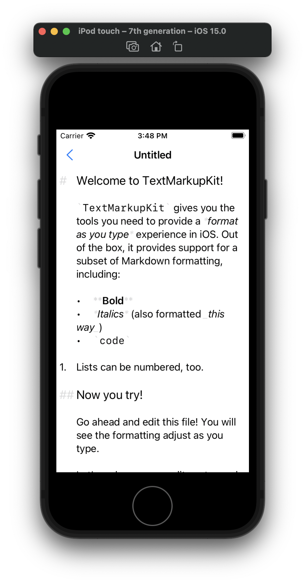 TextMarkupKit Sample App