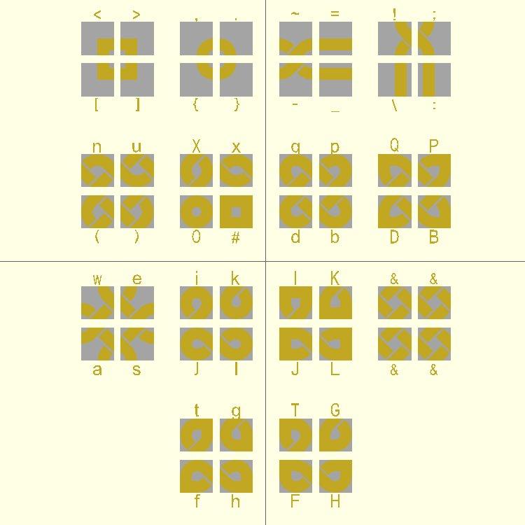 Knot Piece Alphabet