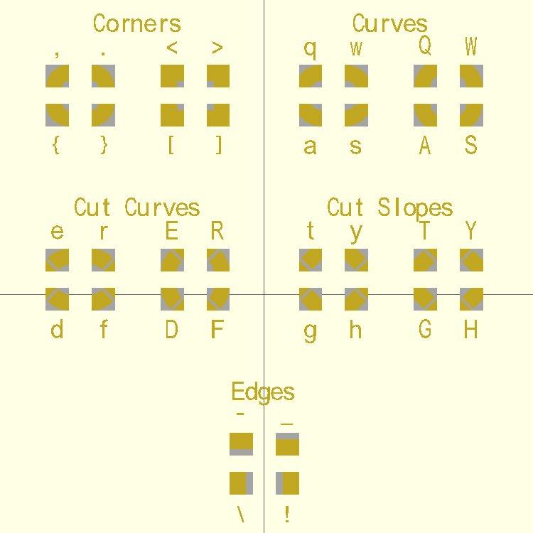Knot Tile Alphabet