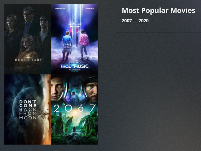 Screenshot of Popular Movies Collections