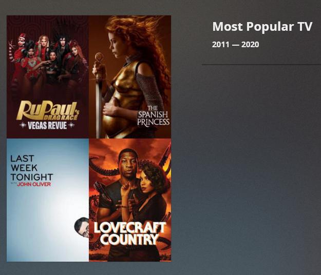 Screenshot of Popular TV Collections