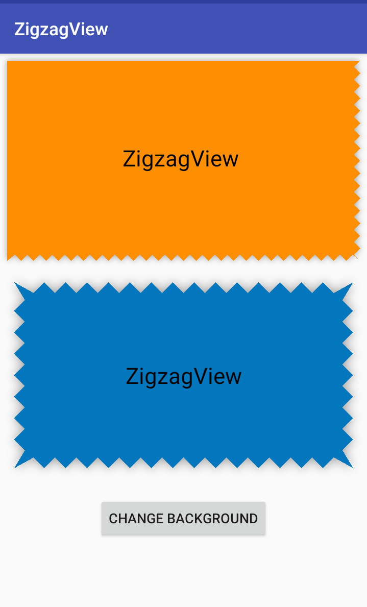 zigzag view for Android