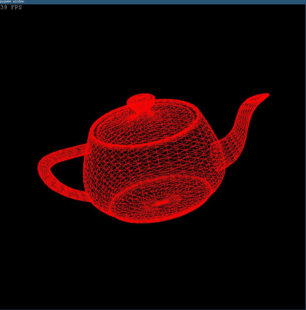teapot rendered with pyWireframeRenderer