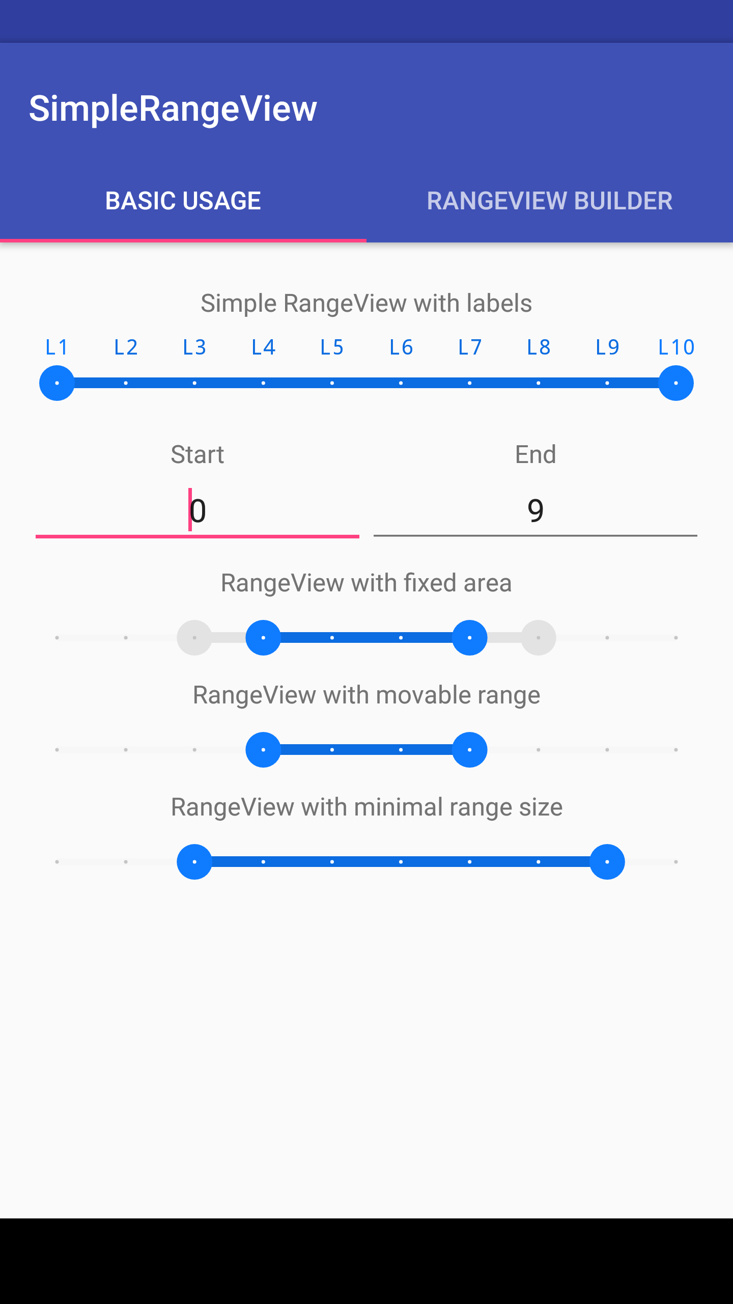 The Android Arsenal - Range Bars - Simple Range View