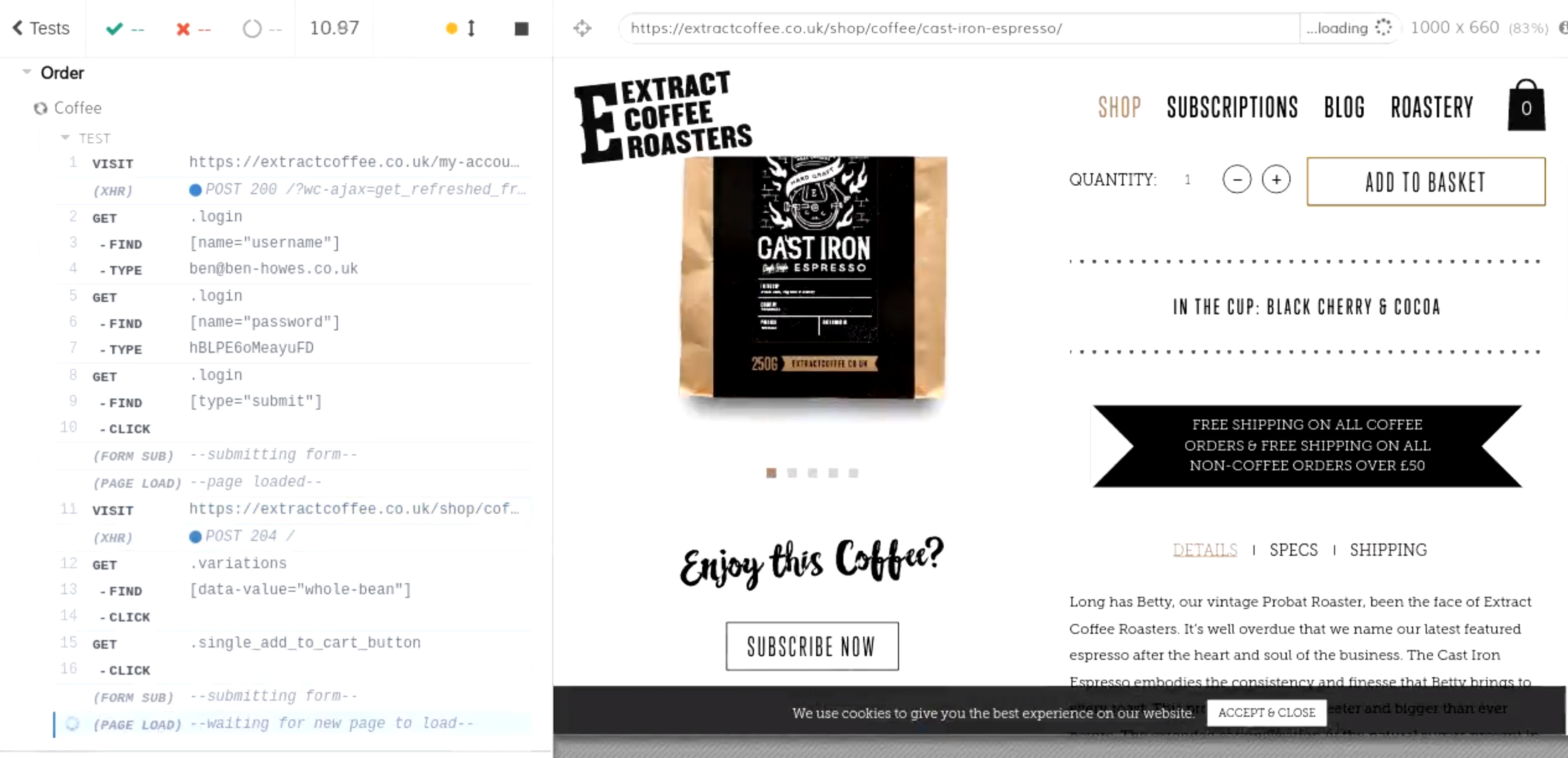 Auto coffee order