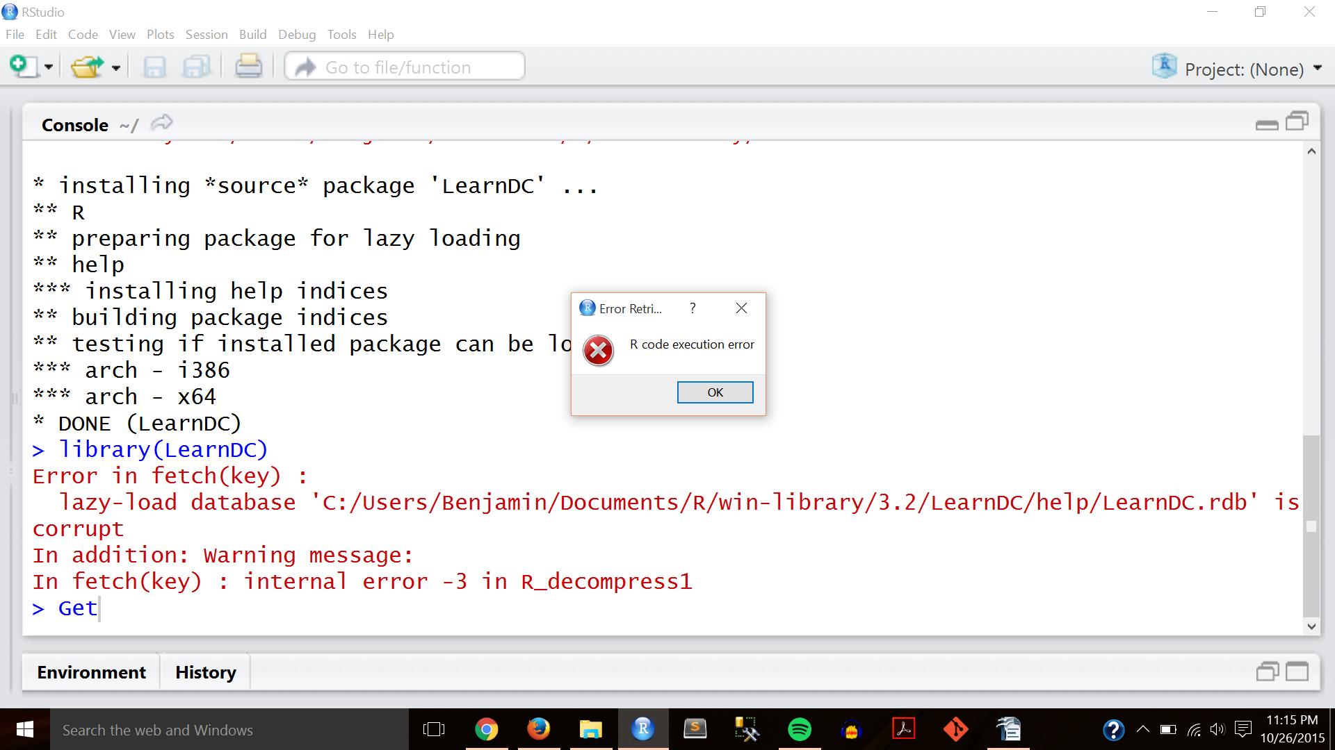 Image of Install Error