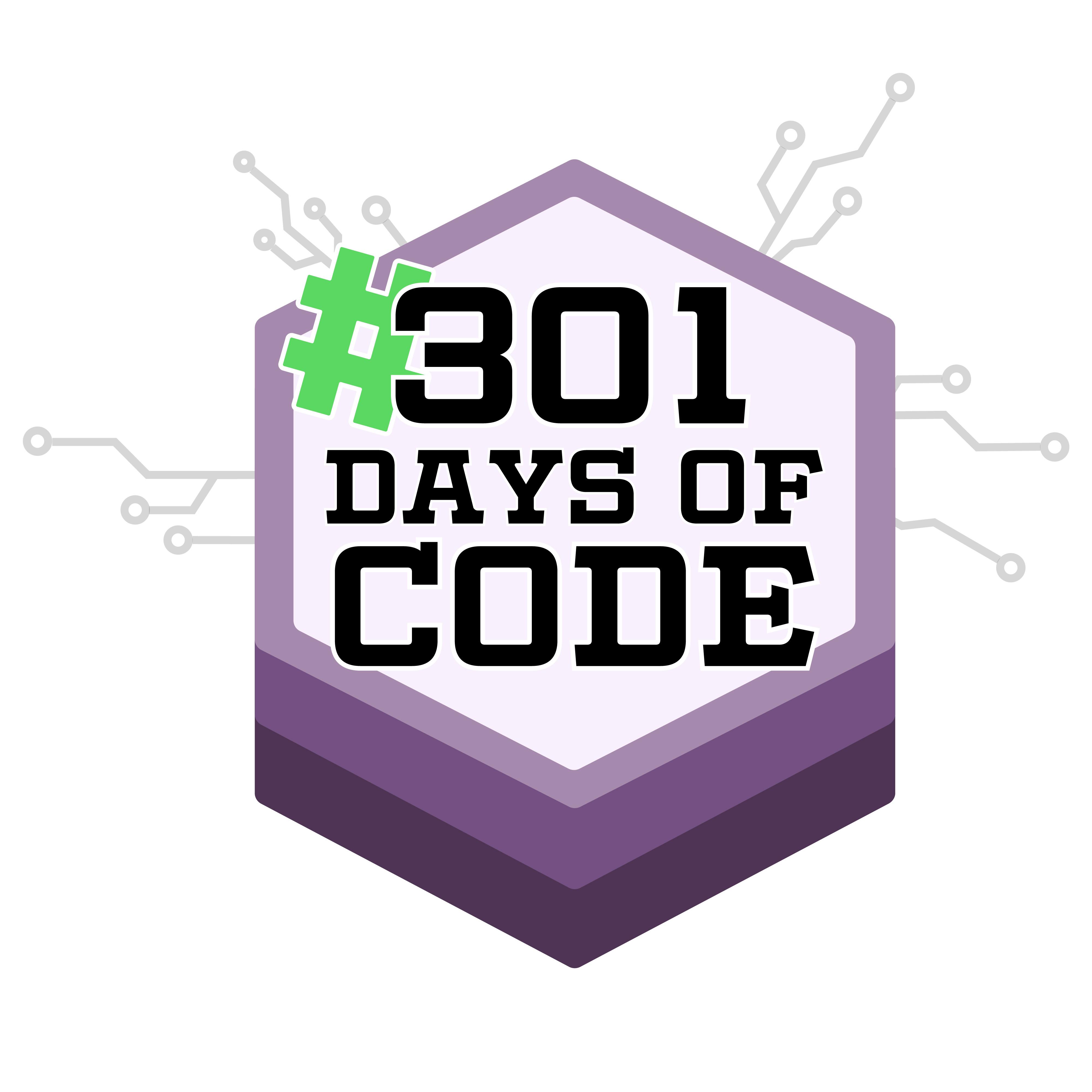 #301DaysOfCode Logo
