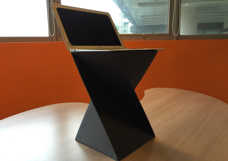 Open Stand Kit Is A Project Aim To Provide A Design Of Foldable Portable Standing  Desk / Laptop Stand By Cardboard. It Could Be Made By Using Scissors, ...