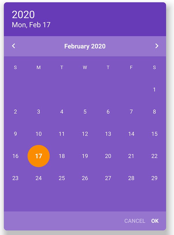 Flutter Rounded Date Picker