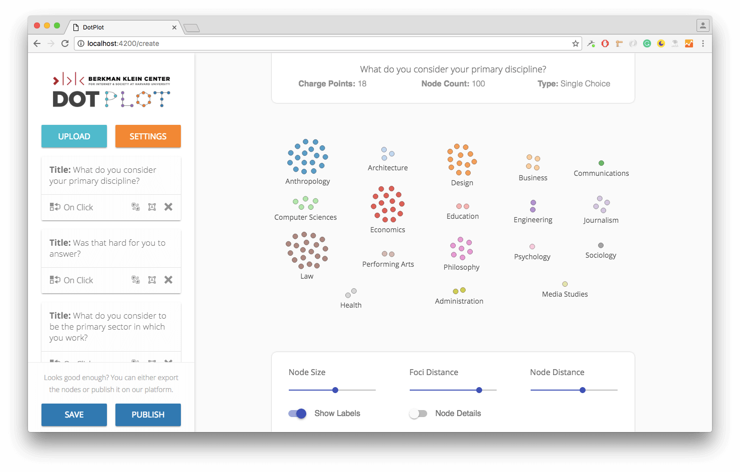 DotPlot App Screenshot