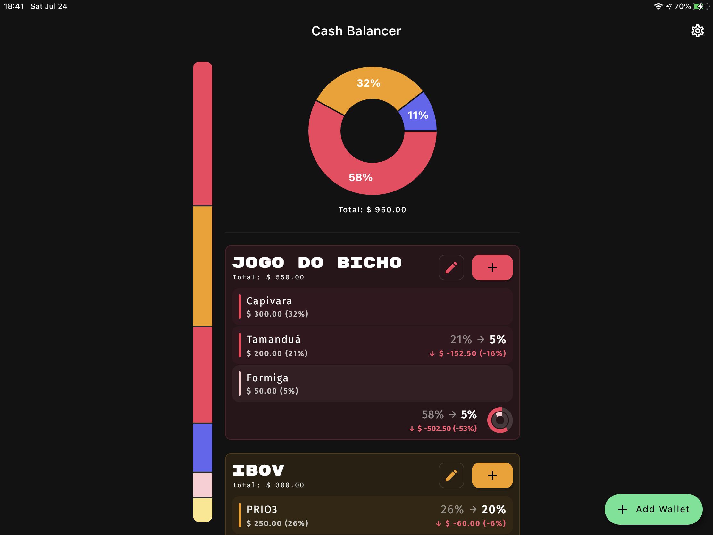 iPad Main Screen