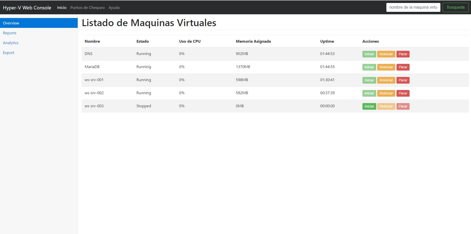 Hyper-V-Web-Console Screenshot