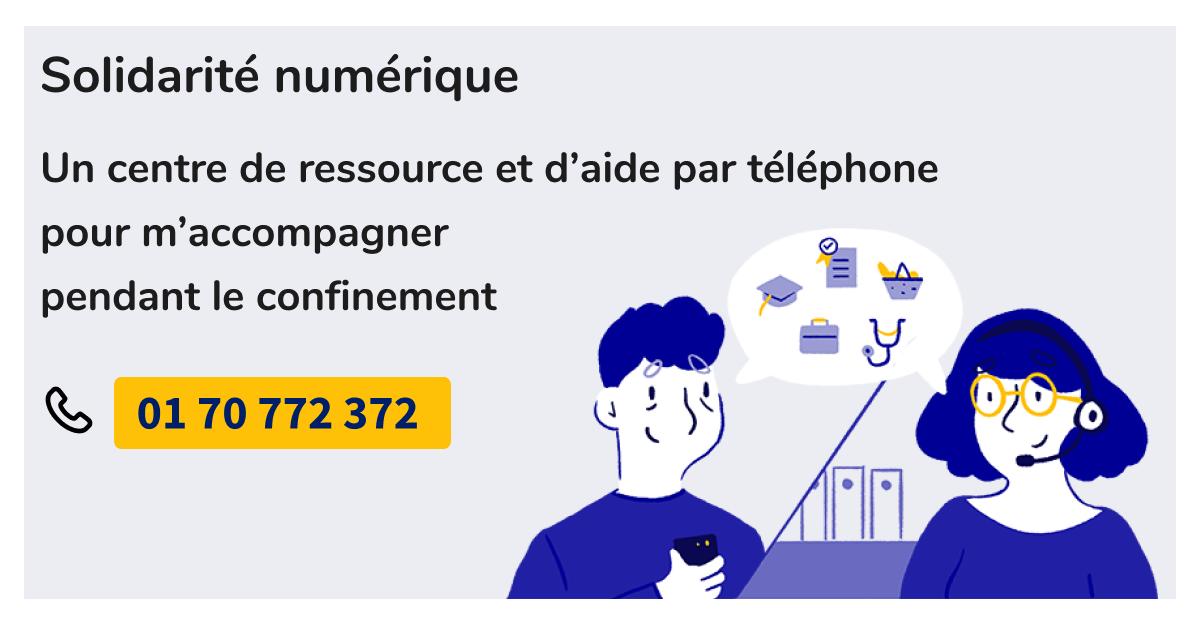 Page d'accueil du site solidarite-numerique