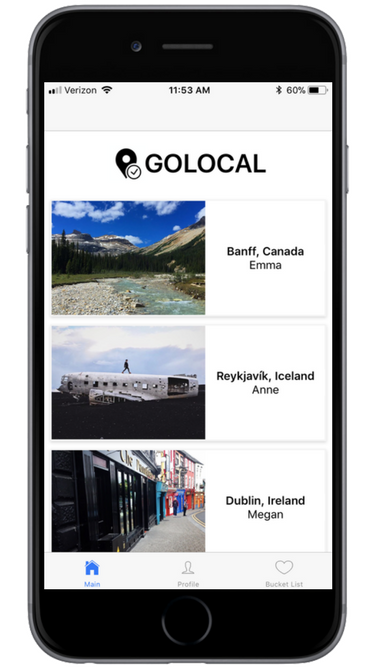 GoLocal Landing Page