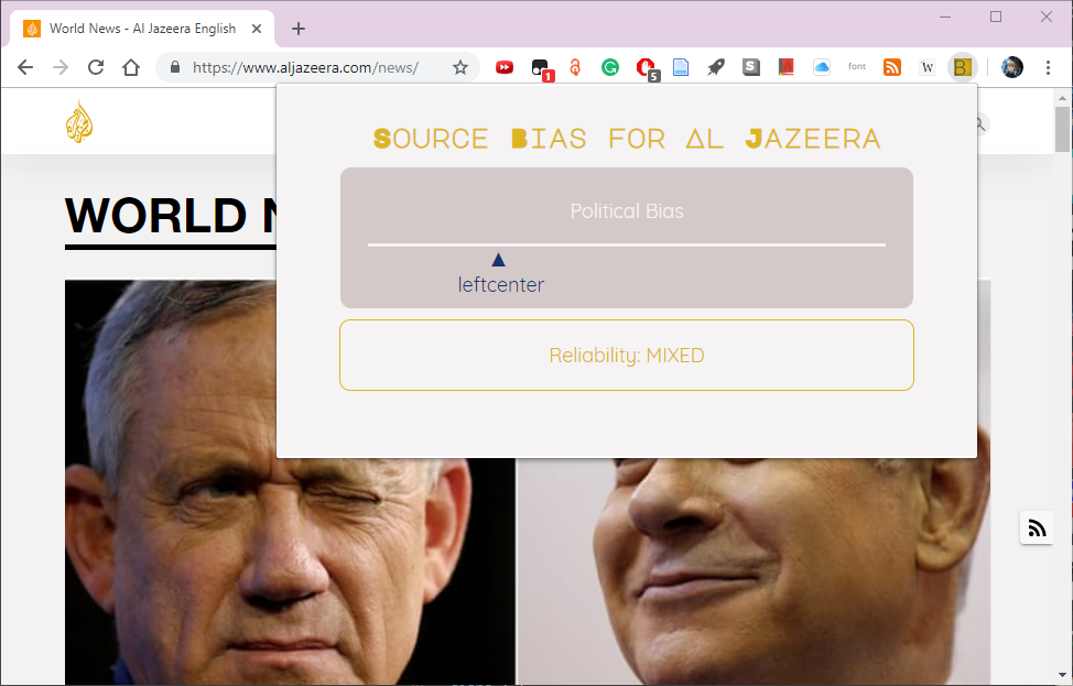 Media Source Bias for Al Jazerra