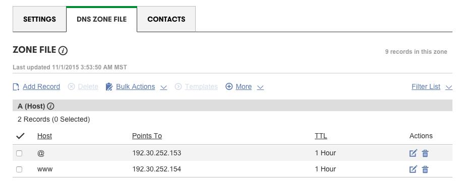 域名的DNS配置