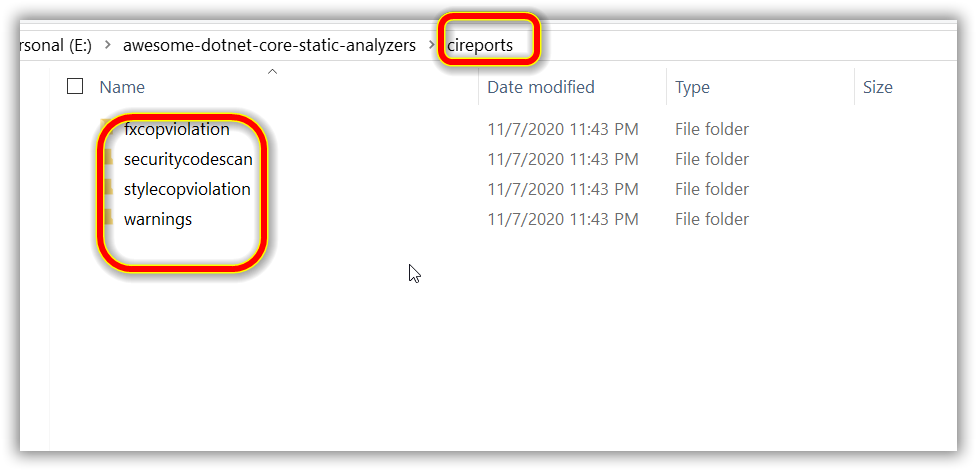 Results Folder