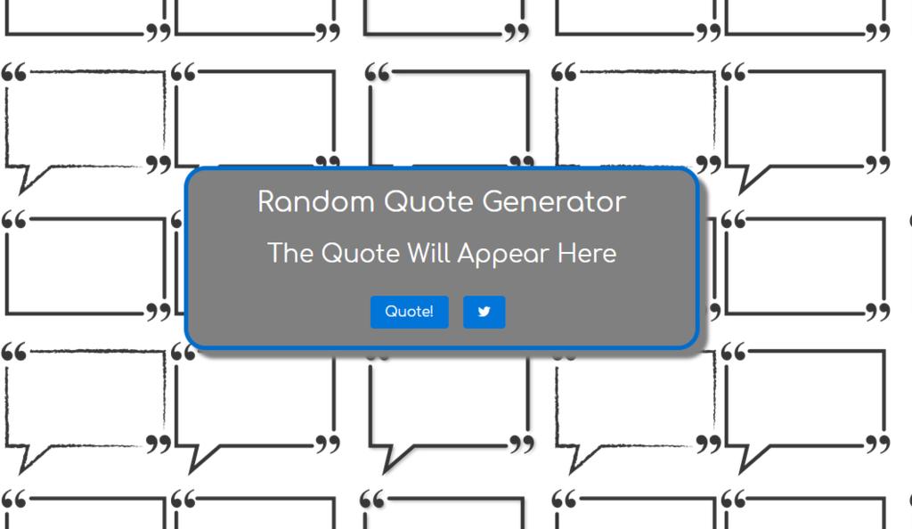 Photo of a random quote generator website