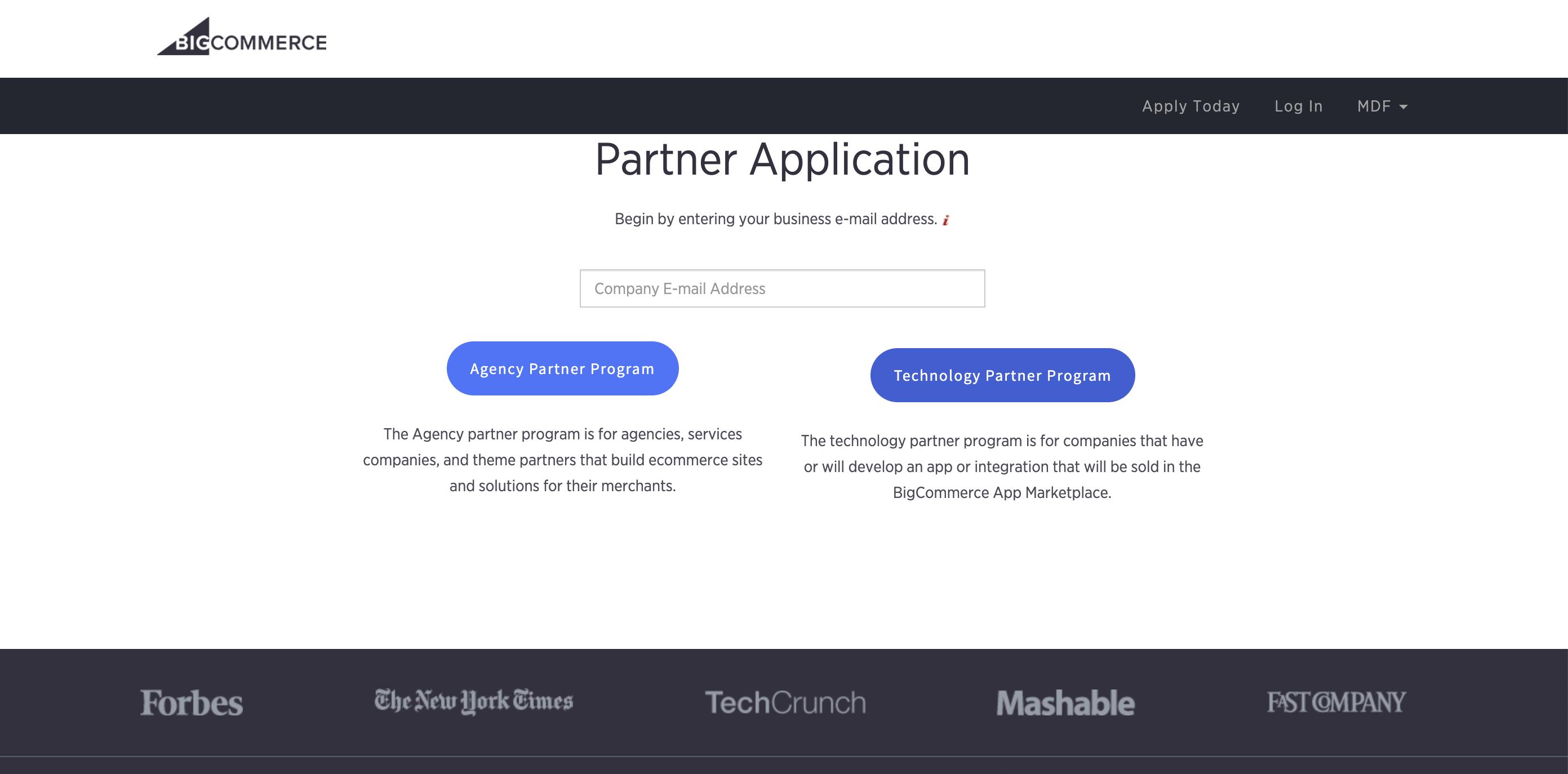 Partner Registration