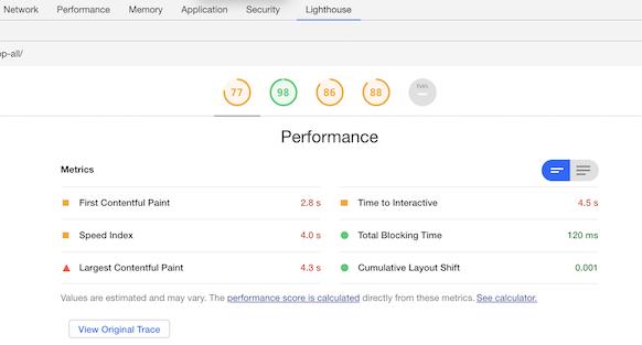 Improved Performance Metrics