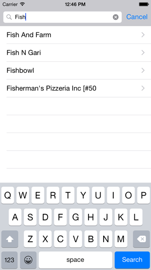 SF Restaurant Search With Text View