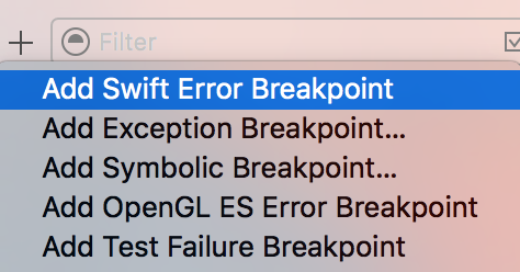 Add Error Breakpoint