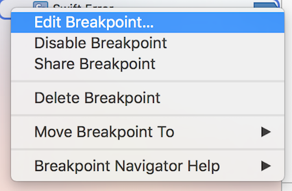 Edit Breakpoint
