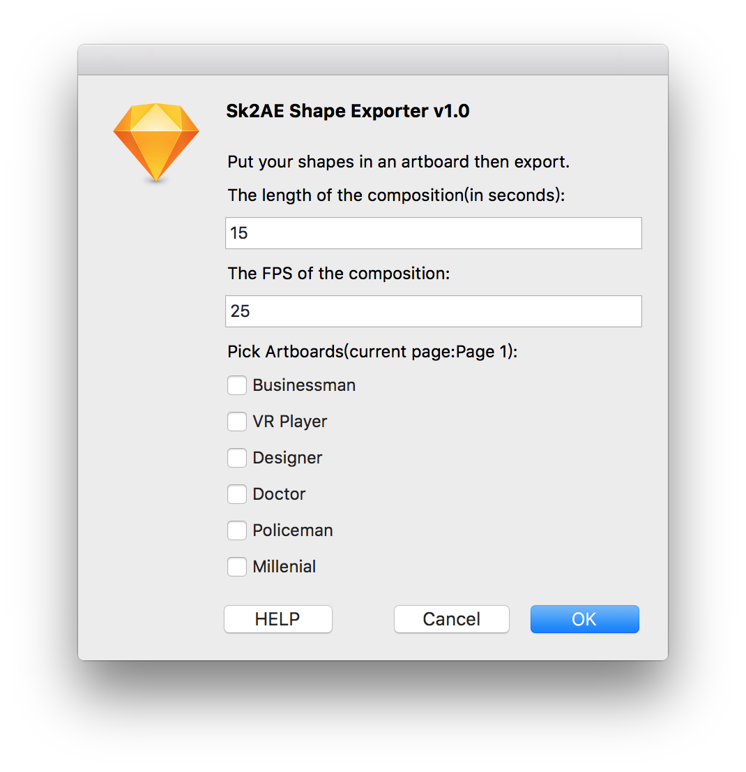 Sketchpacks - bigxixi/Sketch2AE: Export Sketch Artboards to After