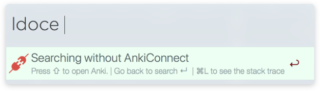 search wichout Anki