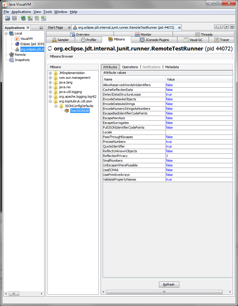 Viewing and Modifying Configuration Defaults Using a JMX