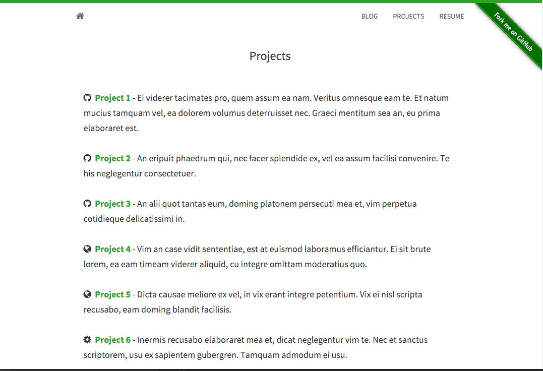 project page