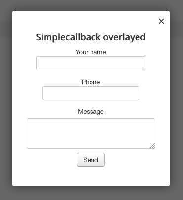 mod_simplecallback screenshot