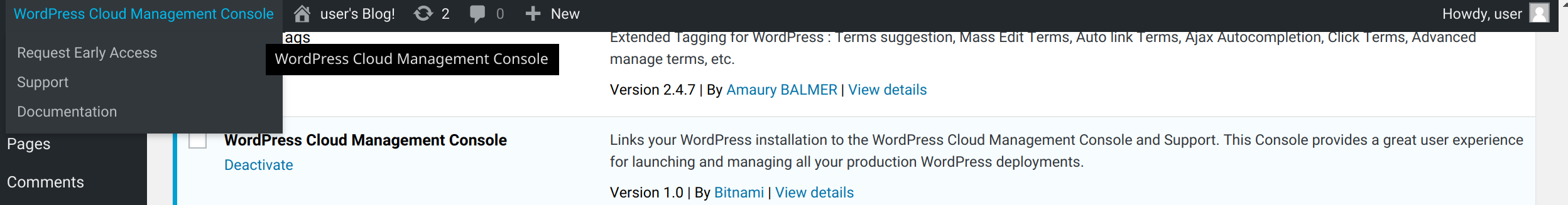 GitHub - bitnami-labs/wp-cloud-mgmt-console-plugin: WordPress plugin