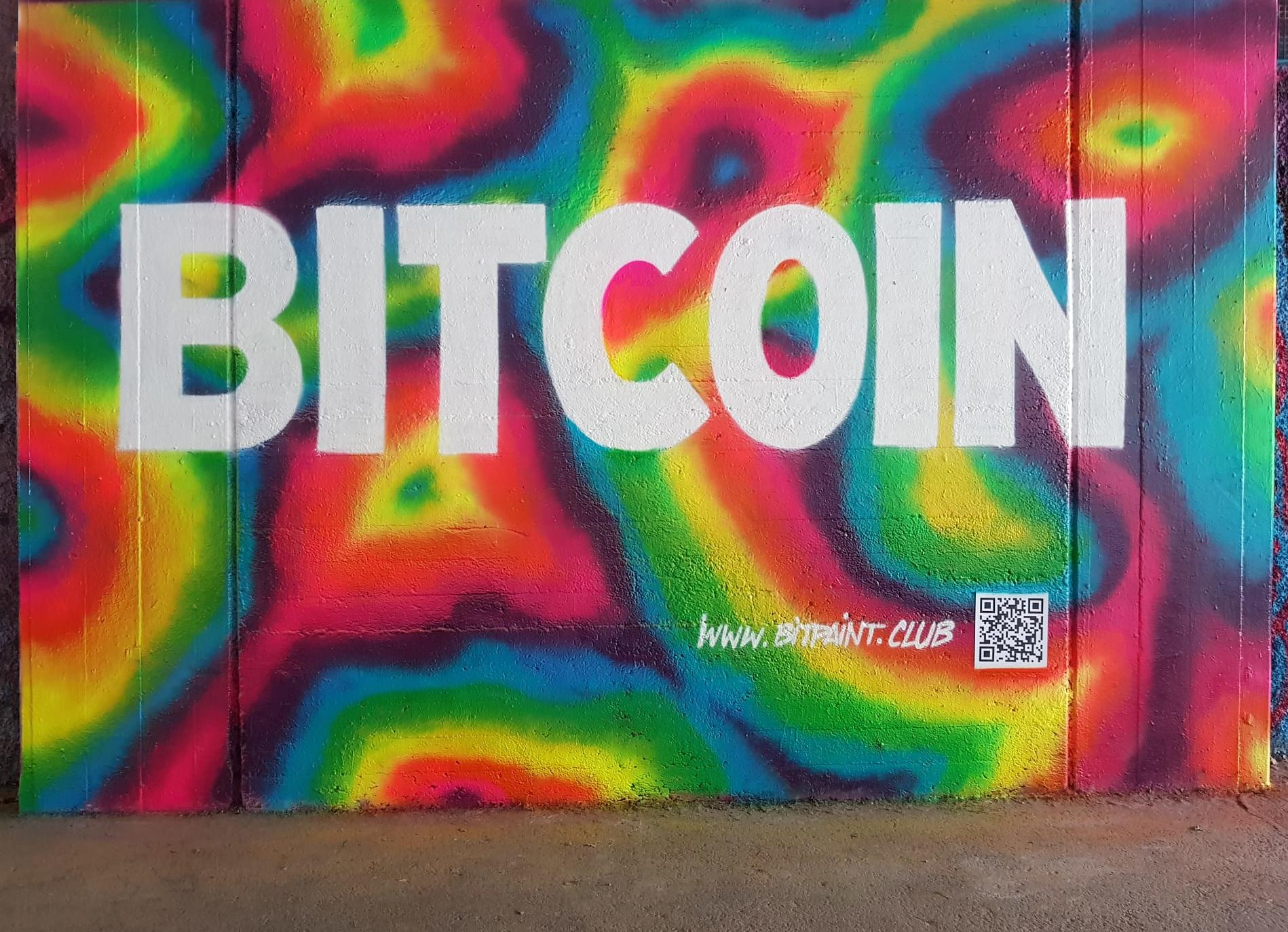 Bitcoin graffiti - By Bitpaint