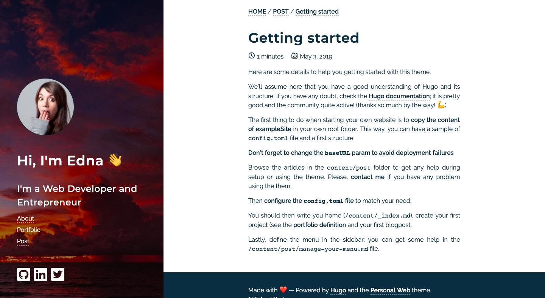 Personal Web | Hugo Themes