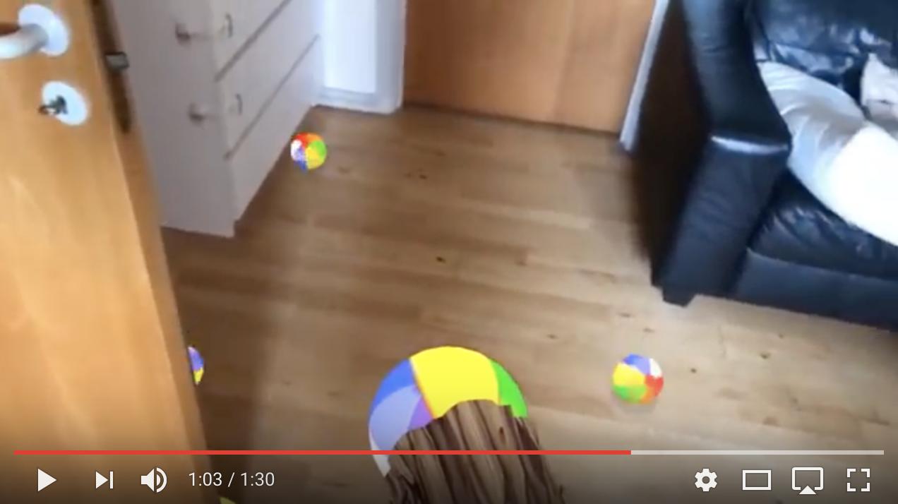 ARKit occlusion demo original video