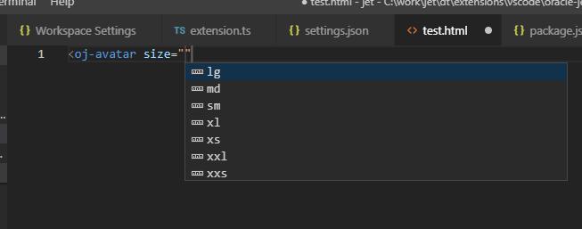 Custom HTML JET attributes